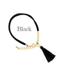 A new mode of black jewelry fashion simple leather bracelets bracelets gifts for women's daughter