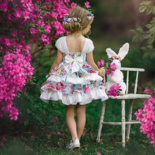 Flower Fairy Childrens Dress Girl Multi-layer Color Limited Clothing Girls High-end Clothes Dresses girls fashion