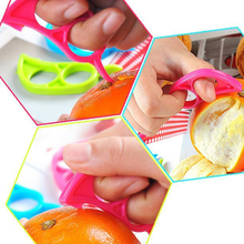 1pcs Cheap Opener Lemon Kitchen Tools Accessories gadget vegetable cutter Plastic Fruit Peeler Slicer Orange Peelers