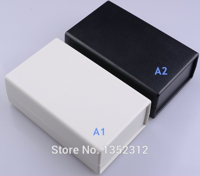 Free shipping One pcs 164*100*51mm PLC instrument box abs enclosure plastic box for electronic project box desk top enclosure