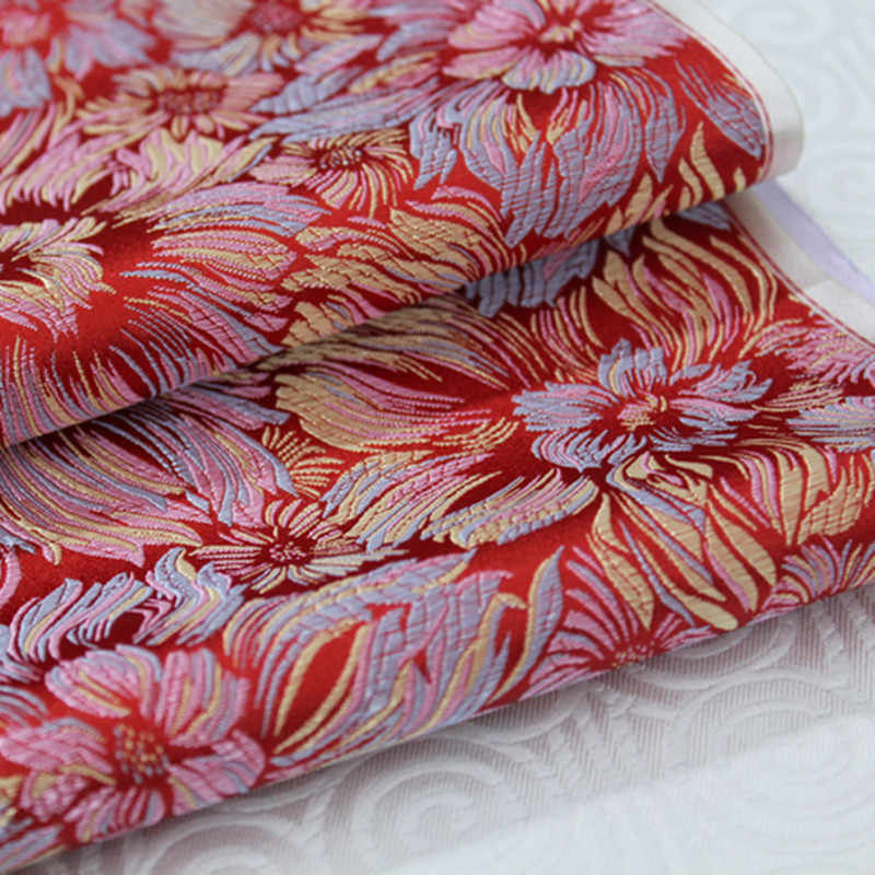 CF148 1 yarda 73cm un motín de color de tela de seda de estilo chino tela jacquard bordada para tela de mujer Cheongsam tejidos
