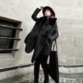 Long Nagymaros Collar Warm Pashmina Men Women Winter Big Shawl Fashion Faux Fox Fur Scarf Soft Smooth Black White Free Size