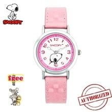 SNOOPY genuine girls New relojes Cartoon Children Watches Fashion Kids Cute Leather strap japan quartz Watch relogio feminino все цены
