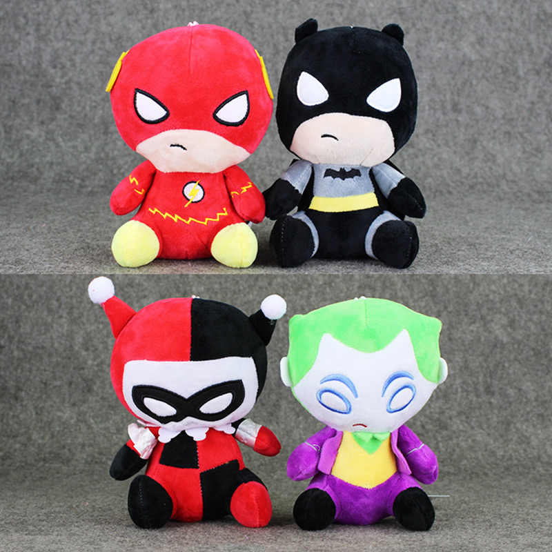 4 estilos Avengers Brinquedos De Pelúcia O Flash Harley Quinn Batman The Joker Collectible Presentes Macio Stuffed Dolls