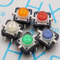 12 * 12 mm buttons green micro switch with LED light touch switch Key switch