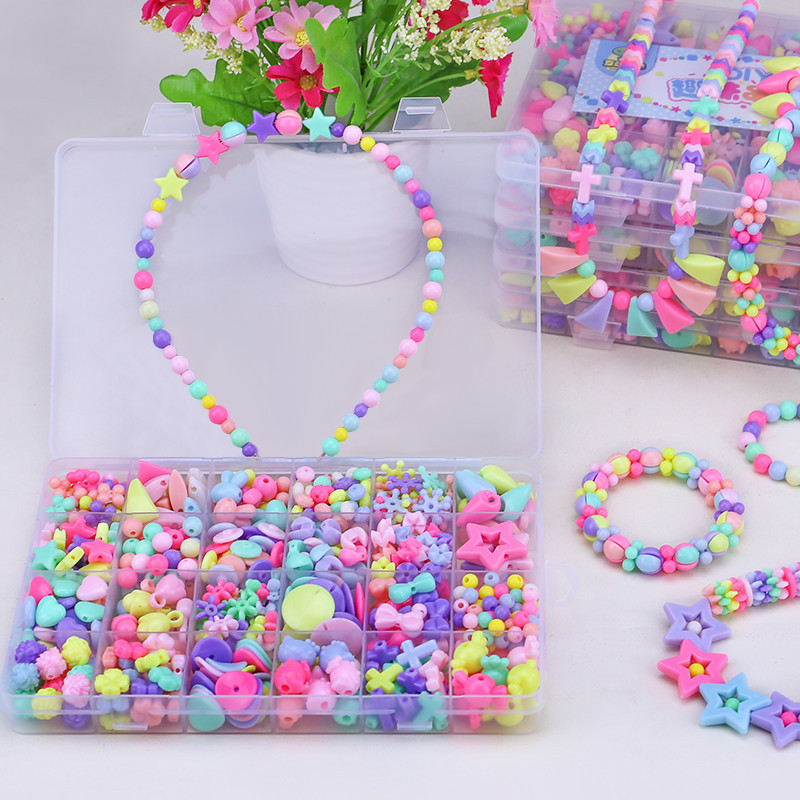24 Child Beads Beads Handmade Toys DIY Necklace Bracelet  Jewelry Box Children's Educational Toys Children's Girls