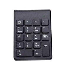 2 4G Mini Wireless Keyboard USB 18 Keys Number Pad Numeric Keypad Keyboard For PC Laptop