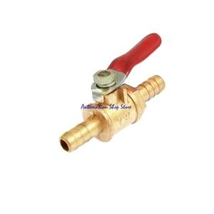 Полный порт 6 мм шланг Хвостовая трубка с покрытием из красного ПВХ Рычаг Ручка шаровой кран