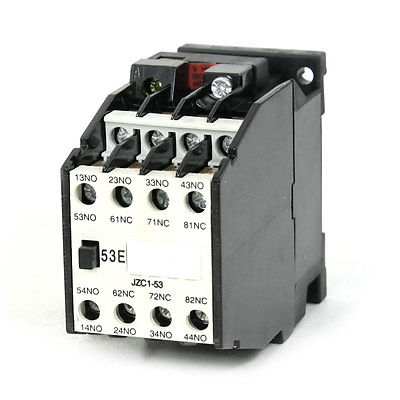 цена на JZC1-53 AC Contactor Type Relay 380V 50Hz Coil Voltage 3-Phase 5NO + 3NC