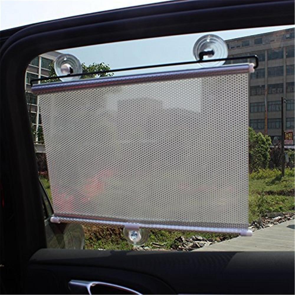 Silver Auto Retractable Car Curtain Front/Side Window Shade Windshield Sun Shade Shield Visor