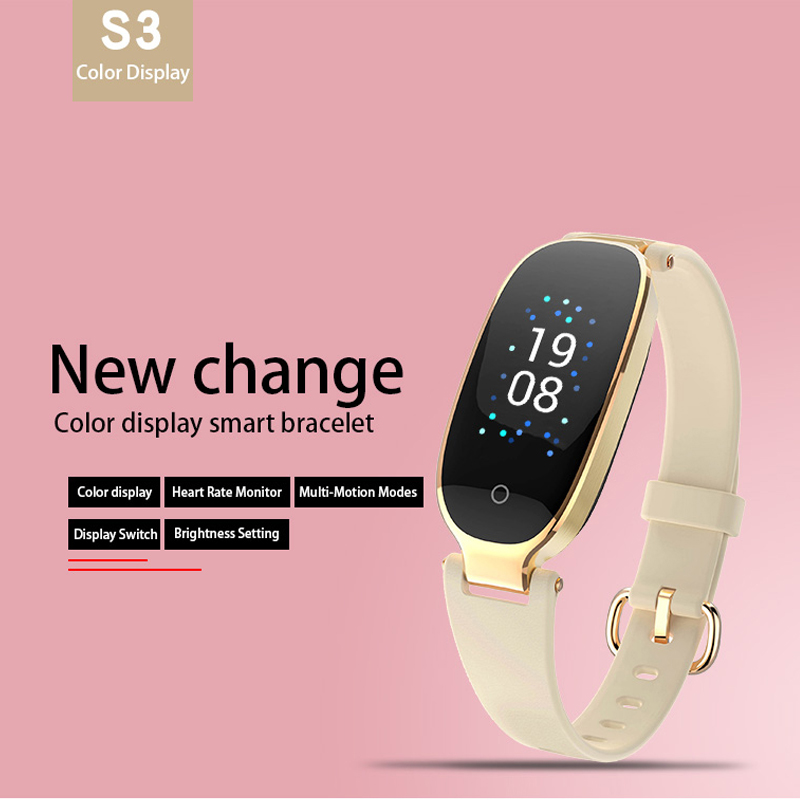 Image 2 - S3 Plus Smart Watch Color Screen Waterproof Women smart band Heart Rate Monitor Smartwatch relogio inteligente For Android IOS-in Smart Watches from Consumer Electronics