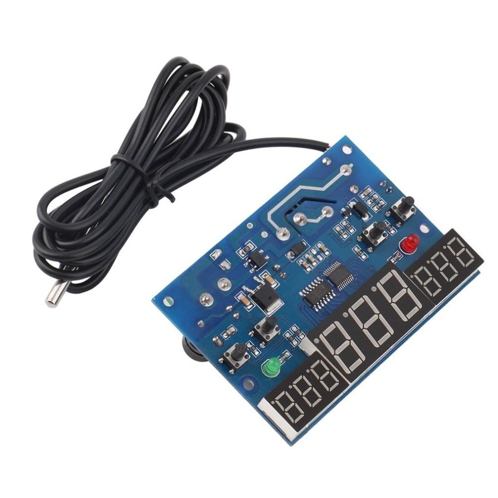 -9-99C DC 12V Intelligent digital display thermostat Temperature controller Heat Cool Temp Thermometer NTC temperature sensor цена