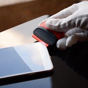 Image 3 - FOSHIO vinil araç örtüsü pencere tonu tutkal şerit etiket çıkarıcı Razor kazıyıcı + 10 adet tıraş bıçağı seramik cam fırın temiz silecek