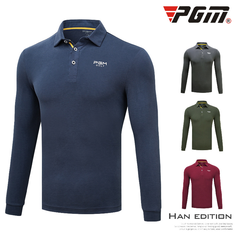 2018 New Golf Suit Men's Long Sleeved T-shirt Autumn Winter Breathable Anti Wrinkle Clothes Modal Clothes Size M-XXL 2018 pgm golf men s t shirt autumn winter long sleeved t shirt absorb sweat quick drying perspiration shirt for men size m xxl