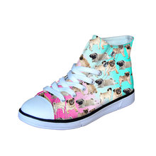 fb283e93a7 Animal Print Alta Capota de Lona Vulcanizar Sapato para As Meninas do  Outono do Verão Mulheres de Verão Sapatos Flats Sneakers E..