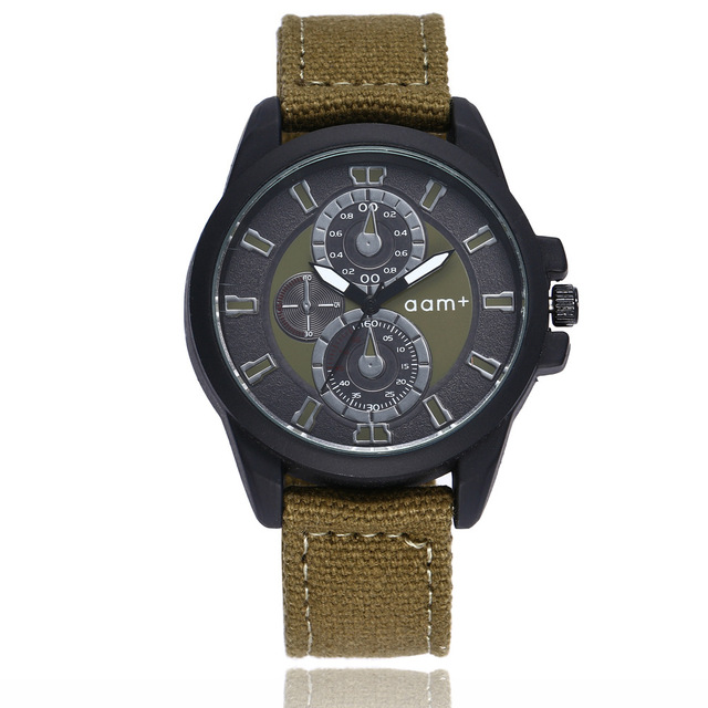 Relogios Masculinos Men's Watches Military Quartz Canvas Strap Fabric Watch Men