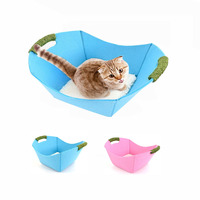 Cat Basket Bed Mat Felt Cloth Kitten Lounge Detachable Scratching Mat Pet Nest Cats Puppies Small Animas Four Seasons Available