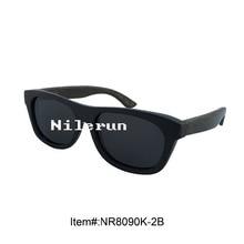 cool small black bamboo sunglasses