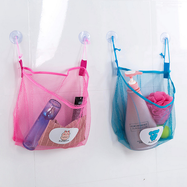 Net sucker hanging storage net kids toy organizer bag for Hanging toy net