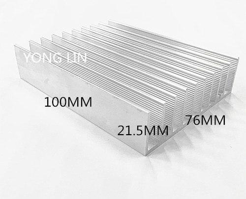 5pcs Heatsink 76*21.5-100/ Chipset Heatsinks/LED Heatsink Aluminum Color/aluminum