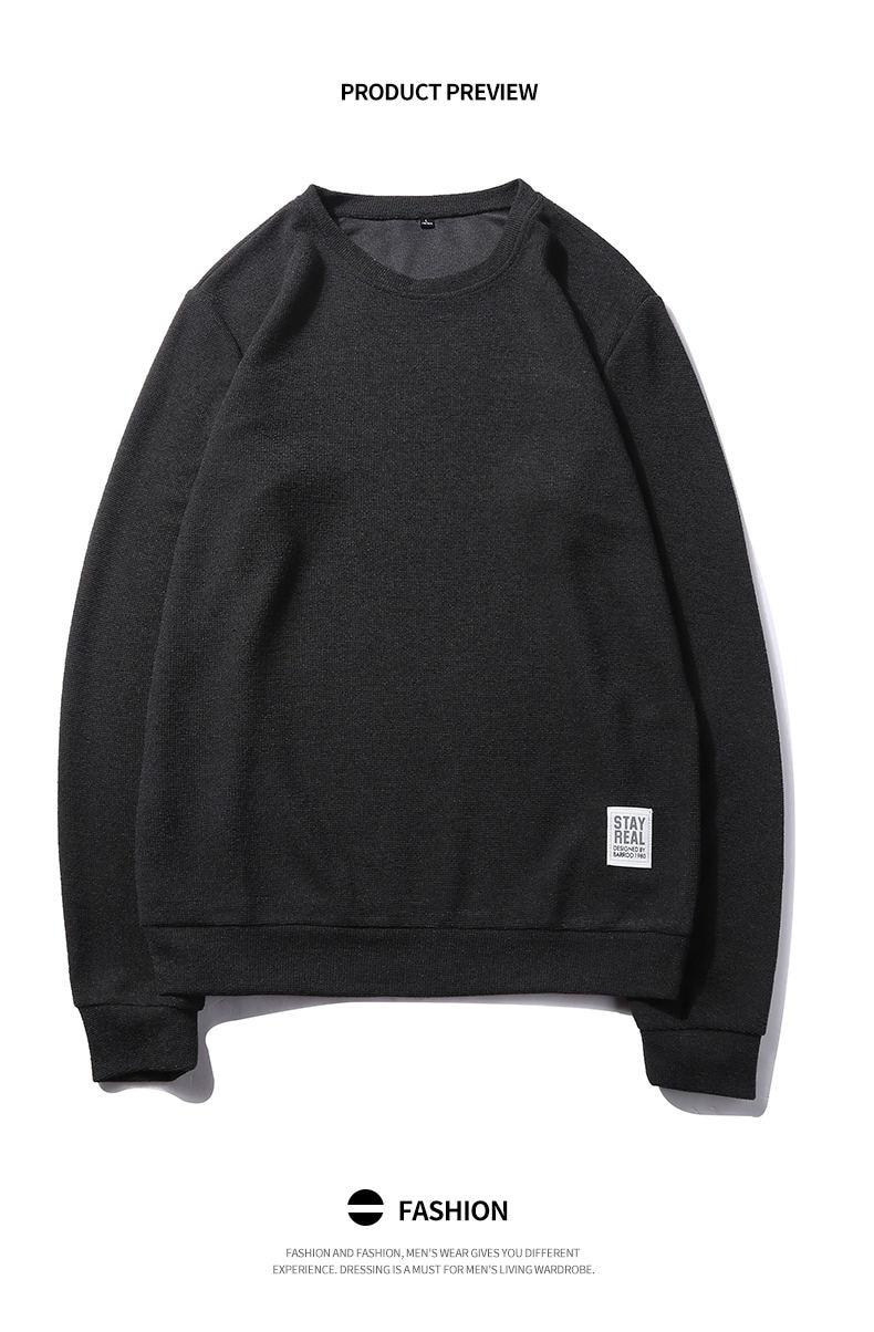 7Colors Autumn Casual Men Sweatshirts Solid Hoody Top Basic O Neck Sport Hoodies Male Spring Crewneck Streetwear Brand Clothing 04