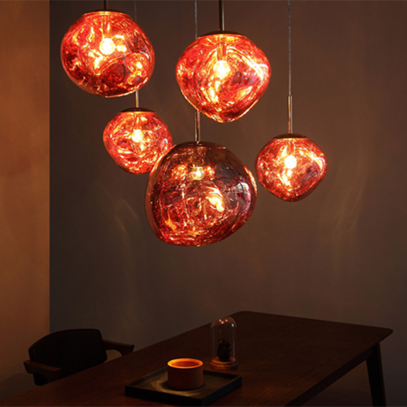 2018 New Nordic Tom DIXON Lava Melt Acryl Pendant Lights Italy Designer Dining Room Parlor Cafe Hanging Lamps Fixtures