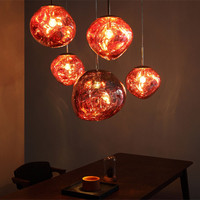 2018 New Nordic Tom DIXON Lava fusión acrílico colgante luces Italia diseñador comedor salón cafetería lámparas colgantes lámparas