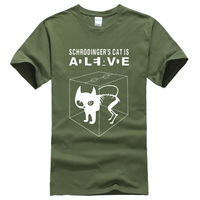 The Big Bang Theory Schrodinger S Cat Men S T Shirts Pattern 2017 Summer Fashion Casual