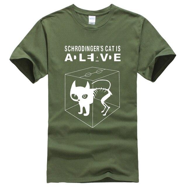 7ba03da3 The Big Bang Theory Schrodinger's Cat men's T-shirts pattern 2019 summer  fashion casual t