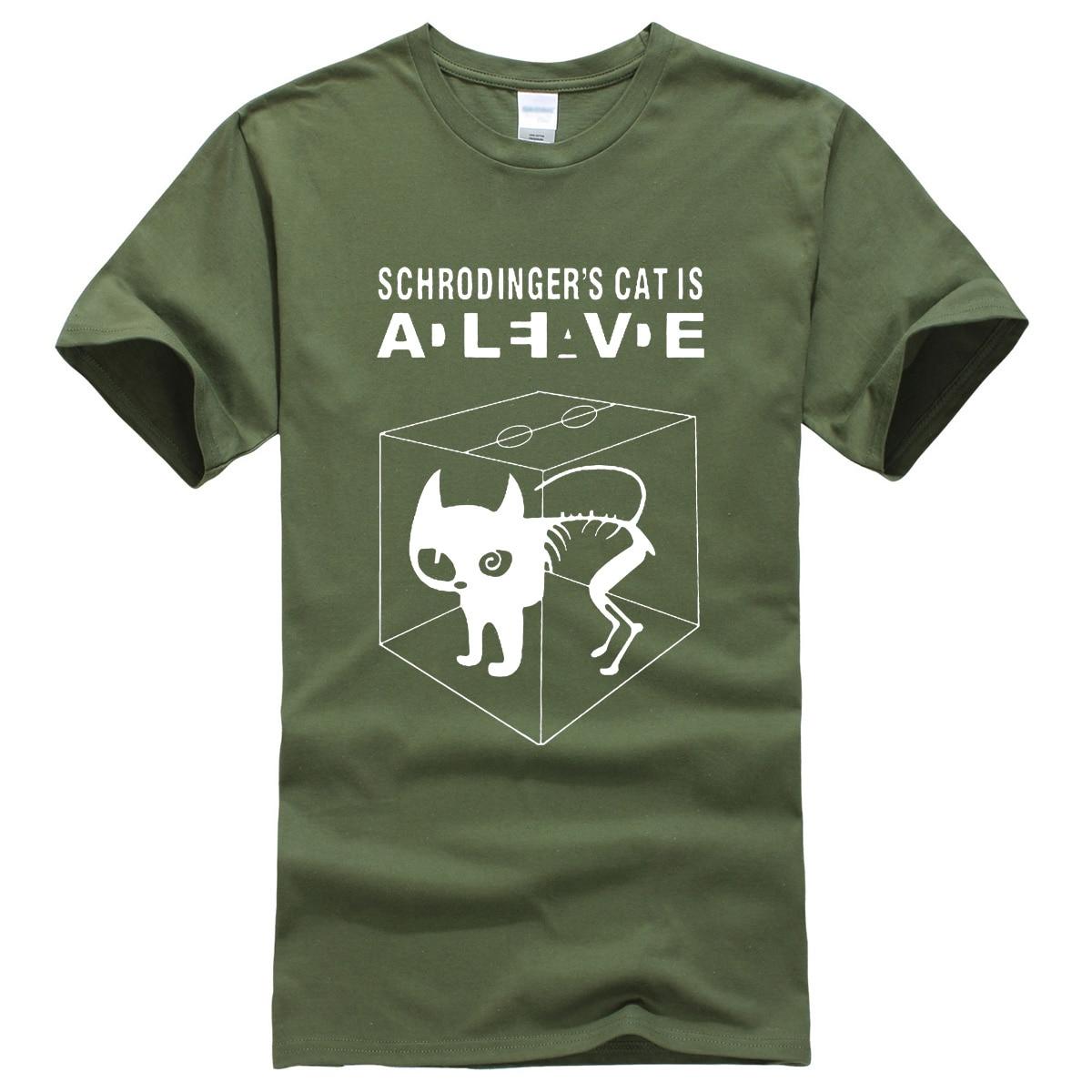 The Big Bang Theory Schrodinger's Cat men's   T  -  shirts   pattern 2019 summer fashion casual   t     shirt   streetwear hip hop brand top tee