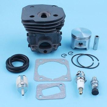 45mm Nikasil Cylinder Piston Kit For Jonsered CS2150 CS2152 CS2147 EPA Chain Saw Fuel Filter Decompression Valve 5372531-02