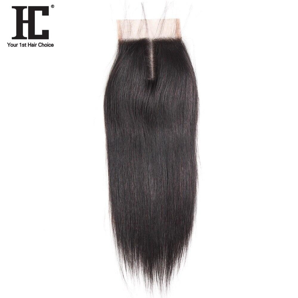 HC font b Hair b font Products Straight Remy font b Hair b font 4x4 Middle