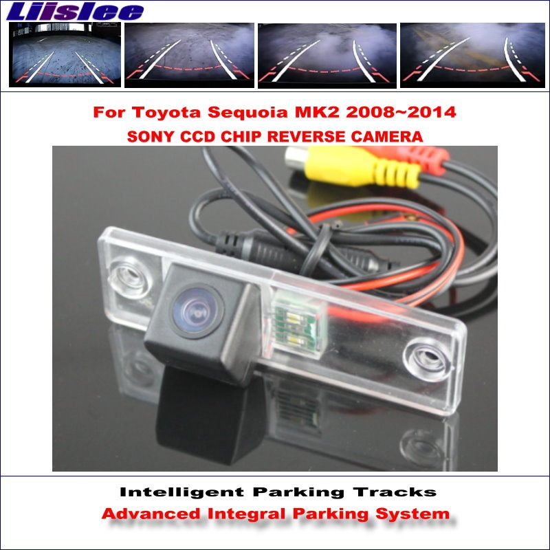 Liislee HD SONY Car Rear Rear Camera For Toyota Sequoia MK2 2008 2014 Intelligent Parking Tracks