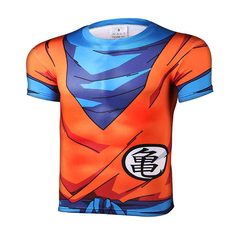 New fashion Japan anime Dragon Ball Z carattere Goku 3D t delle donne della camicia/uomini harajuku del fumetto t shirt casual tee top cosplay Breve