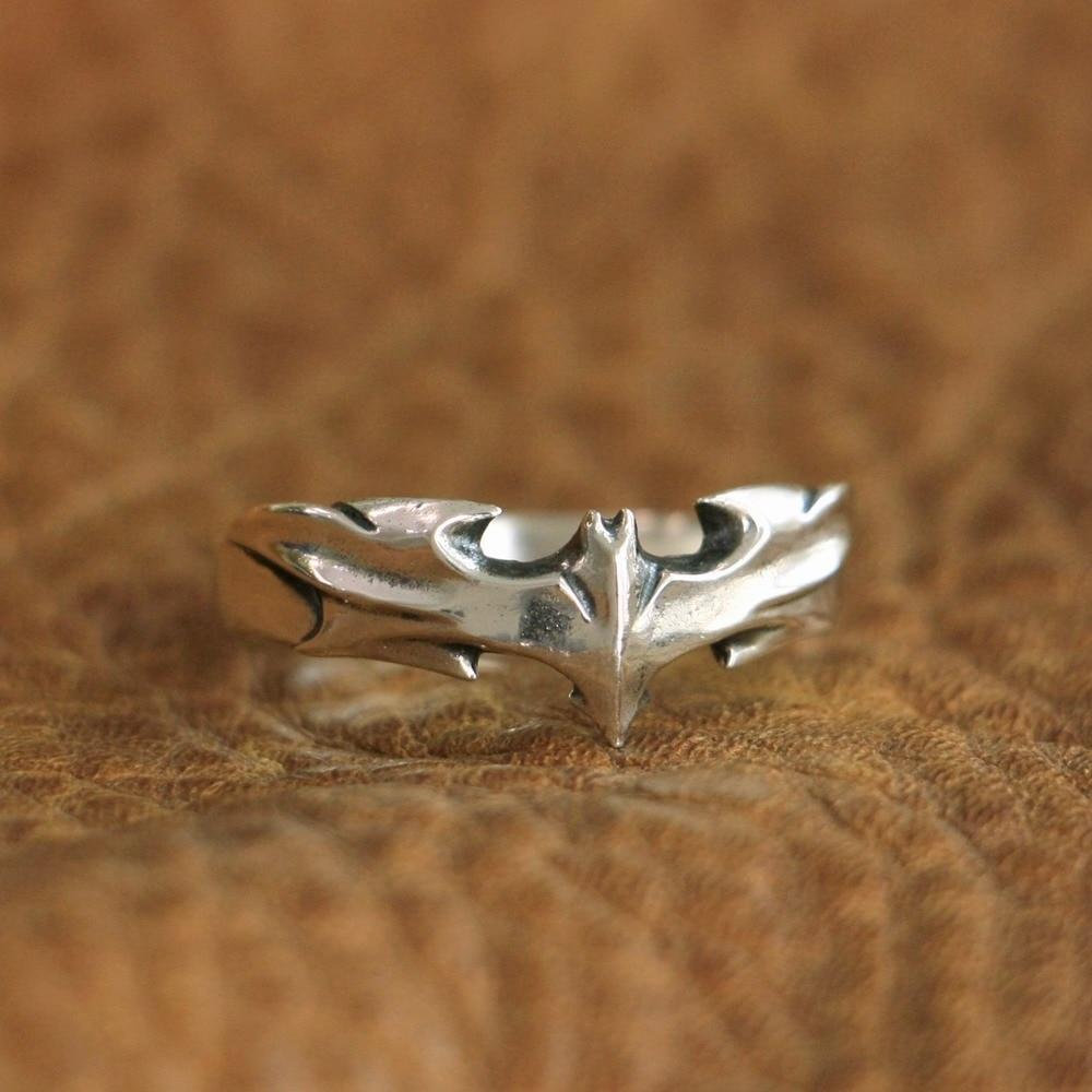 cc385fa9d56 LINSION de Plata de Ley 925 anillo de murciélago encantos anillo de TA111  nos Tamaño 7 ~ 15