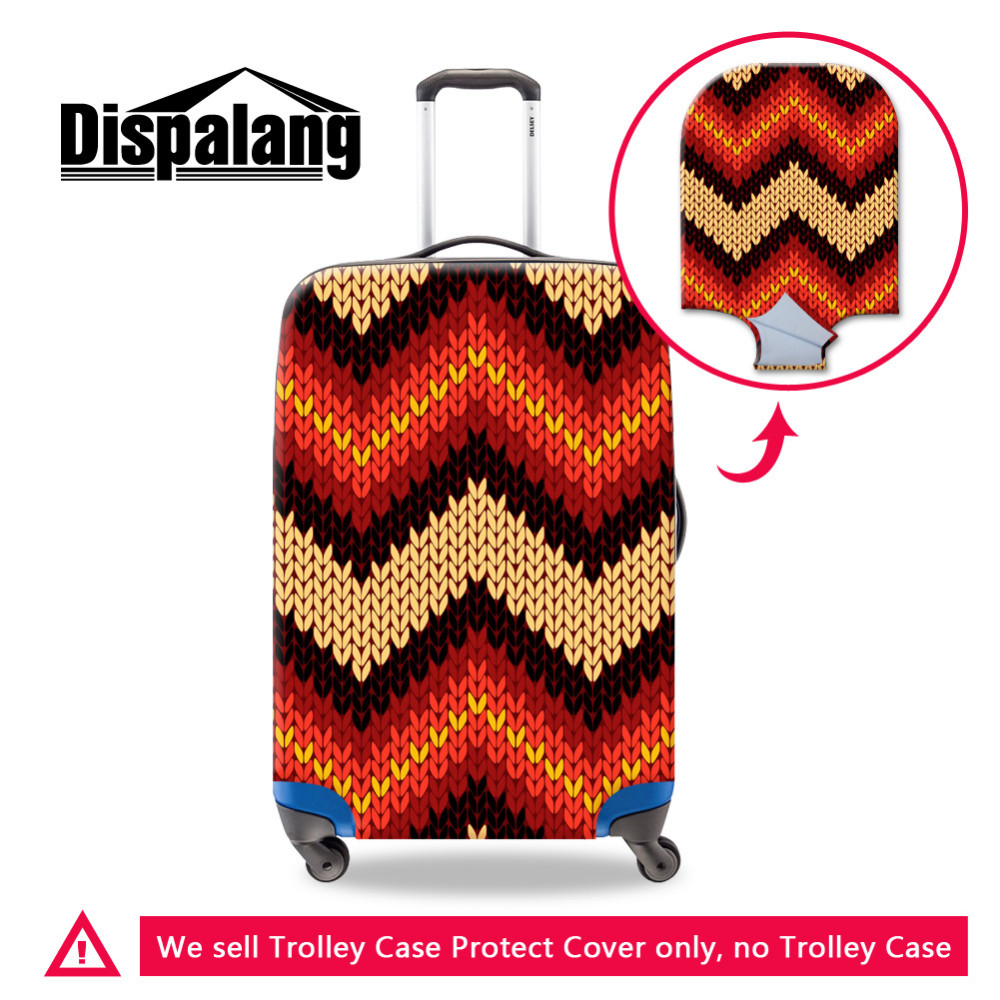 luggage protective cover -24 (3) 3D Flower Anti-dust Elastic Travel Luggage Protective Cover Stretch Durable Suitcase Covers Apply To 18-30 Inch Case