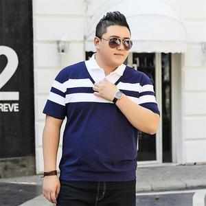Image 2 - 10XL 8XL 6XL 2018 Moda Marka Çizgili Erkek POLO GÖMLEK Kısa Kollu POLO GÖMLEK Mens Yaz Gömlek rahat üst Shirt Erkek Giyim