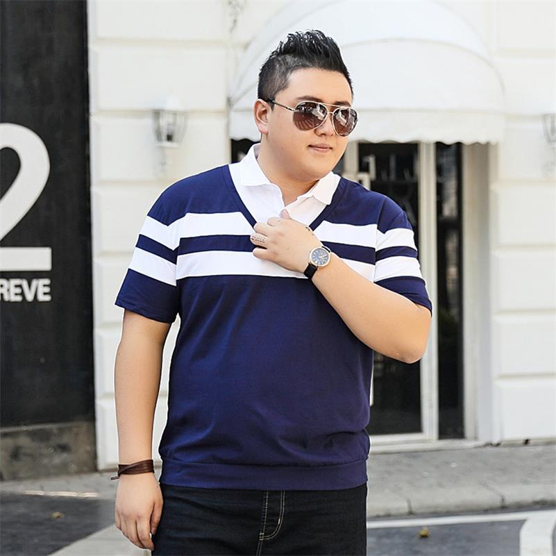 Image 2 - 10XL 8XL 6XL 2018 marque de mode rayé hommes Polo chemise à manches courtes Polo hommes chemise décontracté t shirts vêtements masculins-in Polo from Vêtements homme on AliExpress