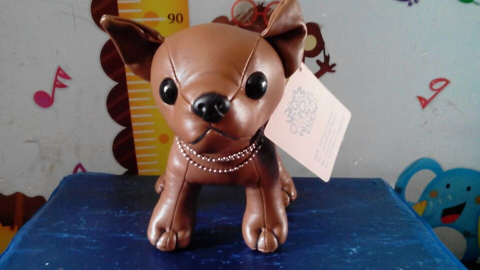 new creative cute dog toy brown pu leather dog doll small dog doll about 21cm usb powered funny cute stress relieving humping spot dog toy brown chocolate white