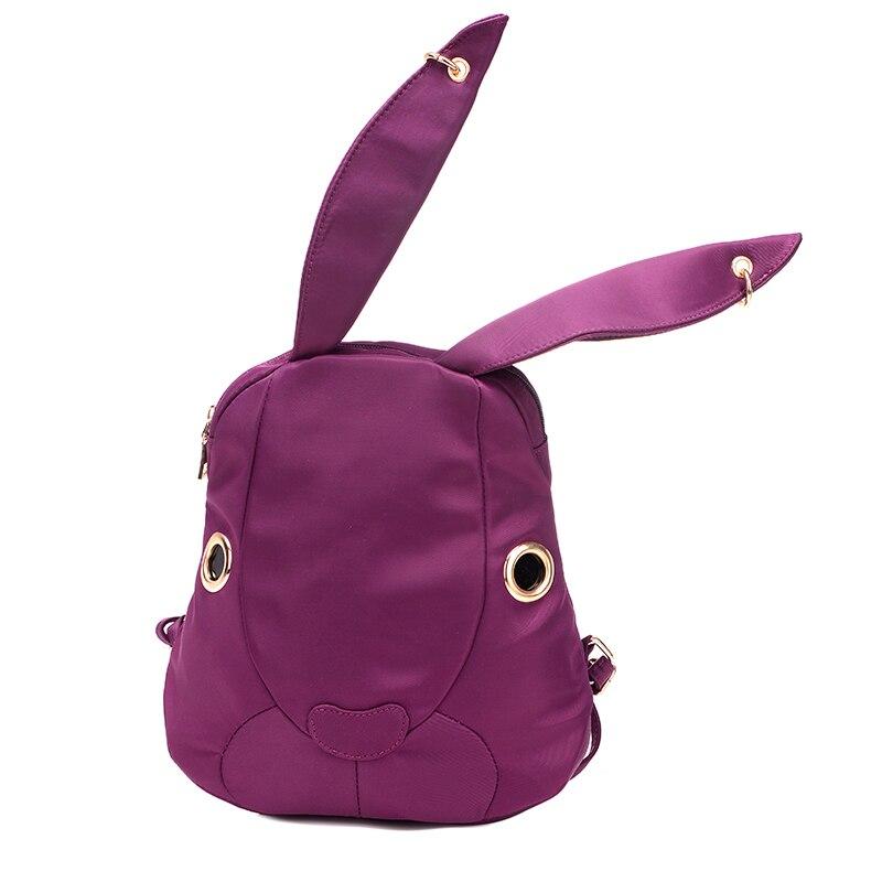 9c74039f71 KVKY 2017 New Solid color bag cute super Bunny back pack kids girls nylon  small school bag women backpacks Shoulder Bag mochilas-in Backpacks from  Luggage ...