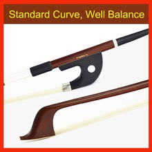 4/4 Size Brazilwood GERMAN Double BASS BOW Pernambuco Performance 76CM! Natural Horse Hair, All Parts Professional Mounted