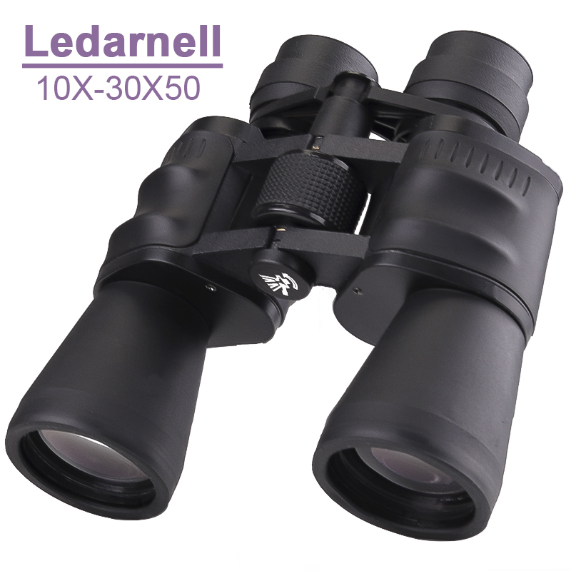 цена на Ledarnell 10-30X50 power zoom Binoculars for hunting professional monocular telescope high quality binoculars telescope