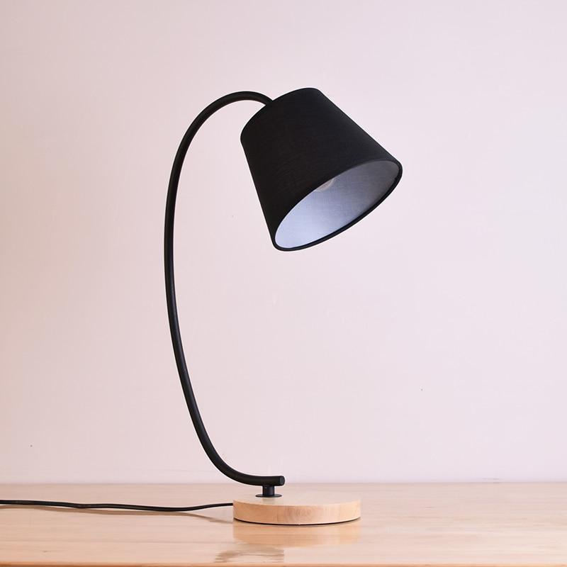 Houten tafel lampen desktop lamp Moderne koffie verlichting ...