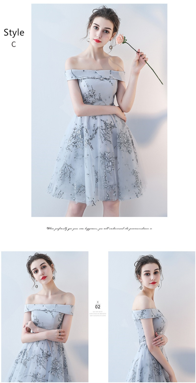 Flower Pattern Sashes Lace Knee Length Bridesmaid Dress 10