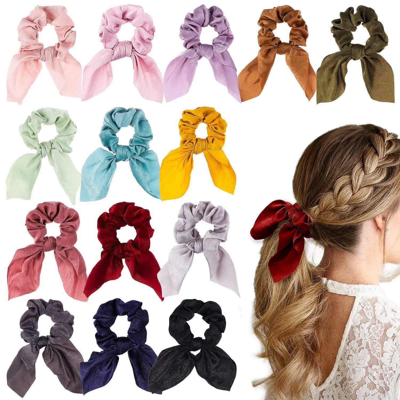 Fashion Bowknot Hair Scrunchies Women Ponytail Scarf Elastic Hair Rope For Women Hair Ribbon Hairbands Adult Hair Accessories