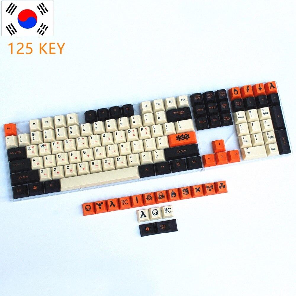 Джаз cool 108/125 pbt толстые Keycap dye-сублимируется Японский Русский корейский макет Cherry MX Переключатель для Механическая игровая клавиатура