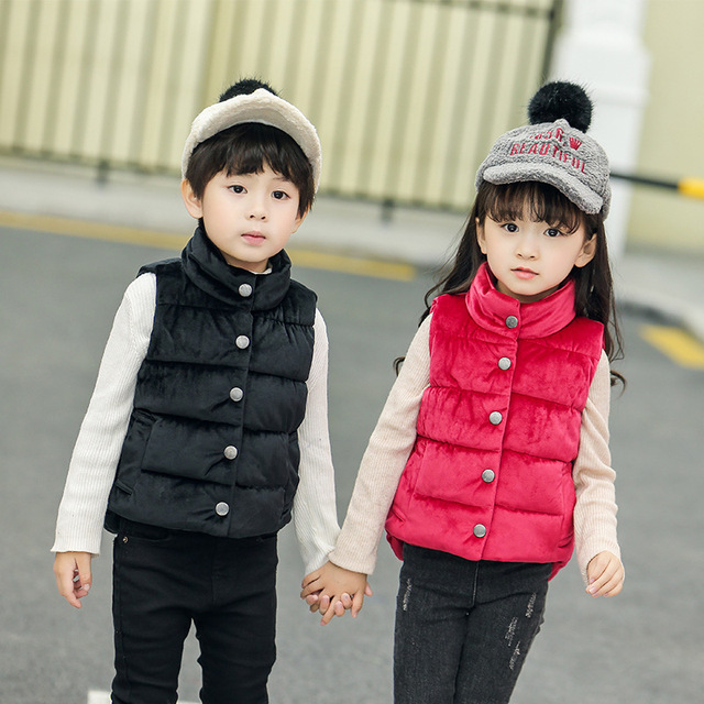 67ee9d4ff81e New Autumn Winter Girl Vests Children s Cotton Warm Vest Baby Boys ...