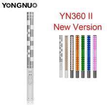 Yongnuo YN360 YN360 II ручной светодио дный студийная съемка видео свет лед рукоять 3200 К-5500 К RGB красочные контролируется по телефону App