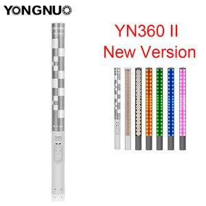 Yongnuo YN360 YN360 II poche studio LED photographie vidéo lumière bâton de glace 3200 k-5500 k rvb coloré contrôle LED par téléphone App