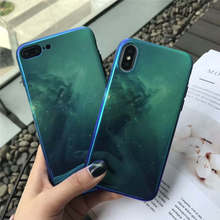Green Star For Iphone 6 6s 7 8P X Xs Xr Max Blu-Ray Soft Drop-Proof Phone Case
